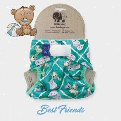 Bambi Roxy egyméretes mosható pelenka külső, tépőzáras, barátok