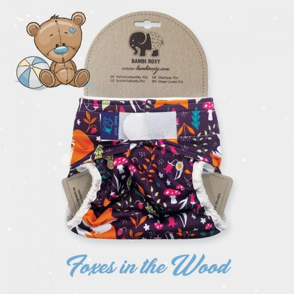 Bambi Roxy egyméretes mosható pelenka külső, tépőzáras bálnák