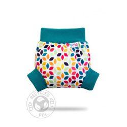 Petit Lulu bebújós mosható pelenkakülső, floral cubes