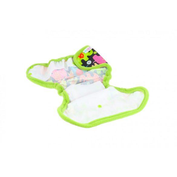 Petit Lulu egyméretes mosható pelenkakülső, tépőzáras - virágos kert
