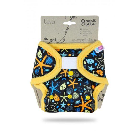 Petit Lulu egyméretes mosható pelenkakülső, tépőzáras vagy patentos, óceán kincsei