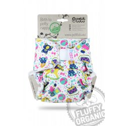 Petit Lulu ORGANIC Fluffy Maxi Night éjszakai nadrágpelenka, tépőzáras vagy patentos, játékok