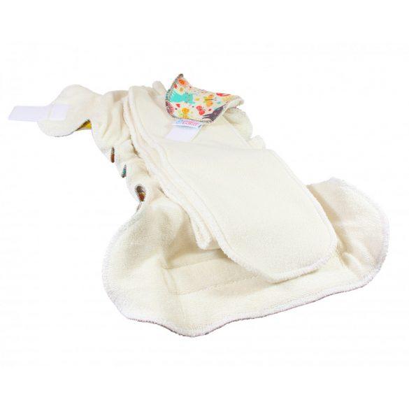 Petit Lulu ORGANIC Fluffy Maxi Night éjszakai nadrágpelenka, tépőzáras vagy patentos, zöld alma