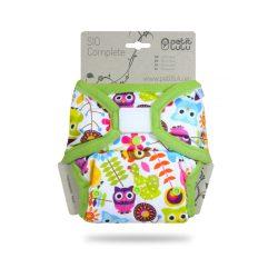 Petit Lulu SIO mosható pelenka, tépőzáras, vízilovak (új verzió, rövid betéttel)