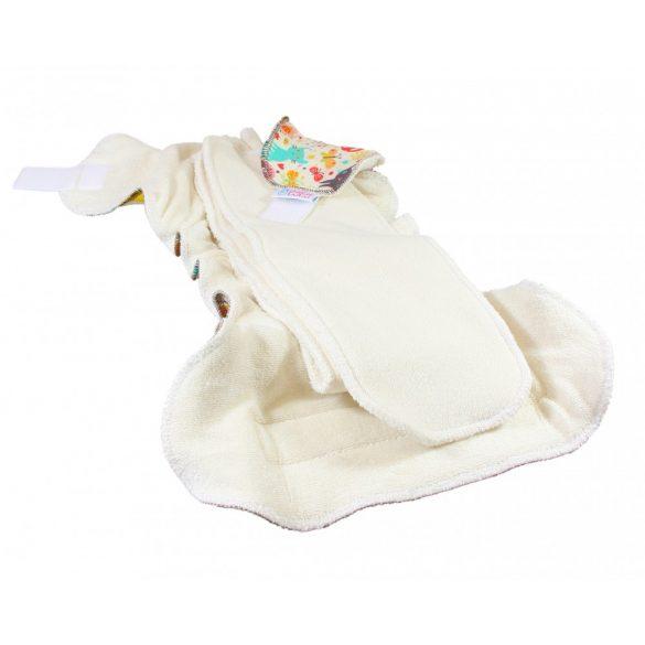 Petit Lulu Organic Fluffy Maxi Night éjszakai nadrágpelenka, elefánt