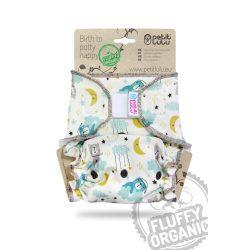 Petit Lulu Organic Fluffy Maxi Night éjszakai nadrágpelenka tépőzáras vagy patento, jó éjszakát