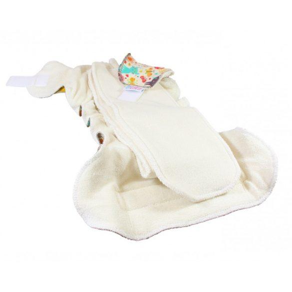 Petit Lulu Organic Fluffy Maxi Night éjszakai nadrágpelenka tépőzáras vagy patento, mackók a holdon
