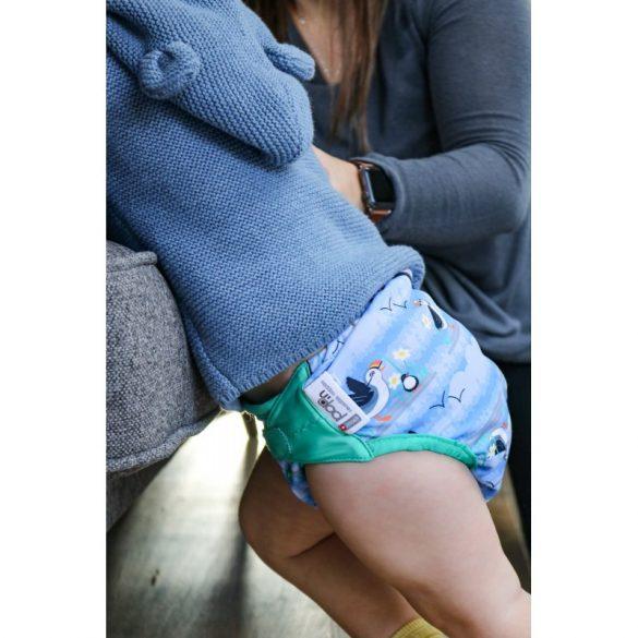 Pop-in pelenkakülső, patentos, lunda - blue puffin