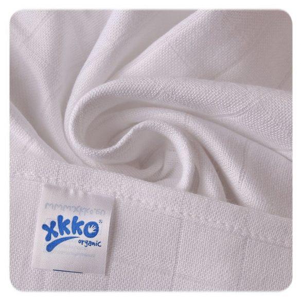 XKKO Biopamut tetra pelenka 70*70 cm, fehér 5 db/csomag