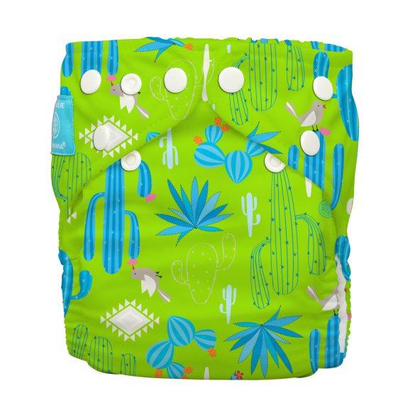 Charlie Banana zsebes pelenka 2 betéttel, zöld kaktusz
