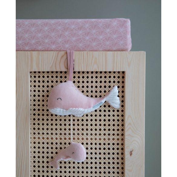 Little Dutch zenélő felhúzható bálna pink