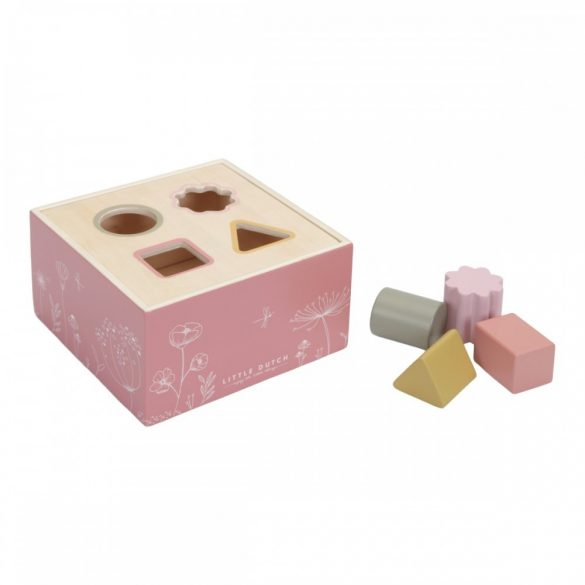 Little Dutch fa formabedobó kocka, pink