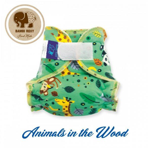 Bambi Roxy egyméretes éjszakai patentos vagy tépőzáras pelenka belső, állatok az erdőben