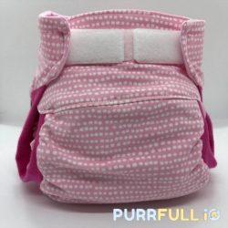 Purrfullio csónakos pelenka 4 méretben, rózsaszín pöttyös