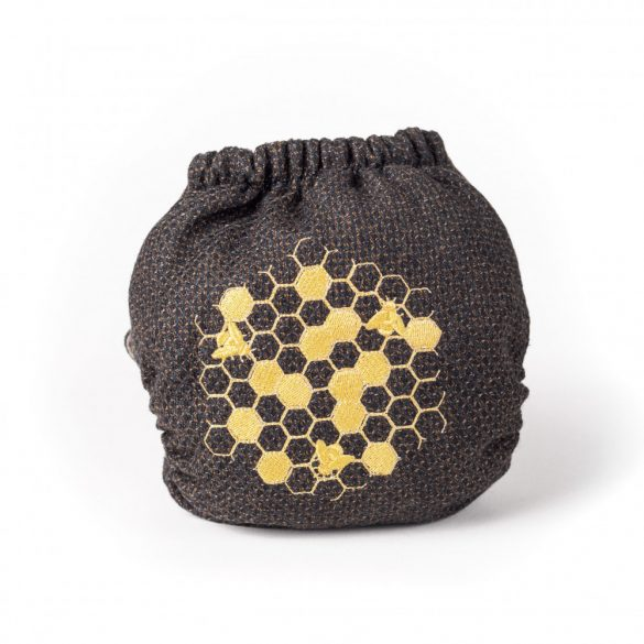 Doodush merinó gyapjú patentos pelenka külső, OS  vagy XL, méhecske