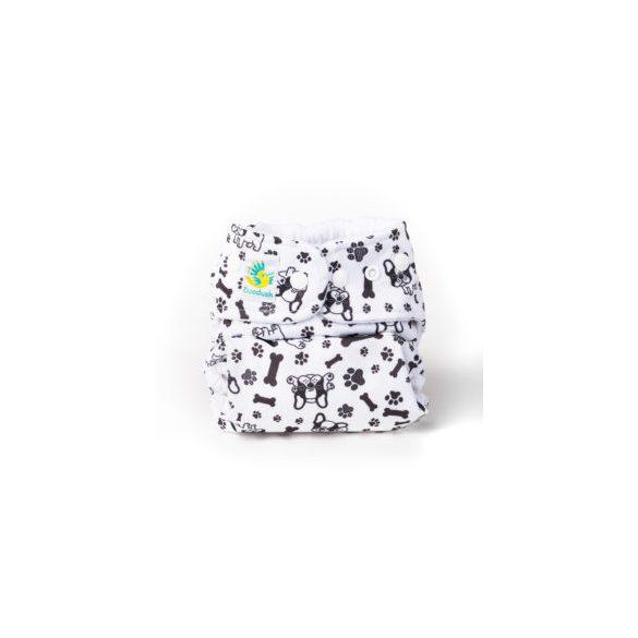 Doodush mosható pelenka külső két méretben, bulldog