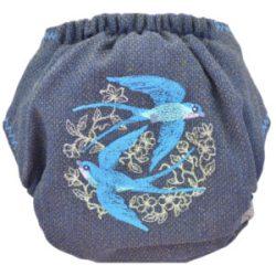 Doodush merinó gyapjú patentos pelenka külső, OS (8-18 kg), fecske