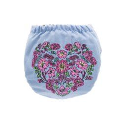 Doodush merinó gyapjú patentos pelenka külső, XL (10-20 kg), virágok