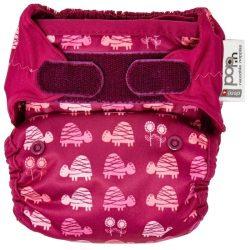 Pop-in pelenka bambusz tépőzáras, pink teknős